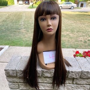 NEW straight silky two tone color long wig